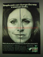 1974 Excedrin Medicine Ad - Change Way Woman Looks