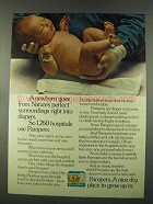 1974 Pampers Diapers ad - Nature's Perfect Surroundings