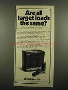 1974 Remington RXP Target Loads Ad - All the Same?