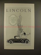 1926 Lincoln Sport Roadster w/ Body by Locke Car Ad!!
