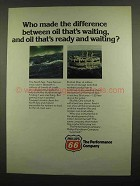 1974 Phillips 66 Oil Ad - Oil That's Ready and Waiting