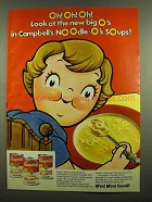1974 Campbell's Chicken Noodle-O's Soup Ad - Big O's