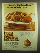 1974 Ore-Ida Onion Ringers Ad - Taste As Good