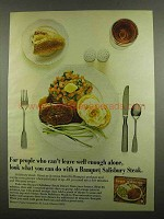 1974 Banquet Salisbury Steak Ad - Well Enough Alone