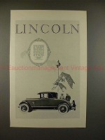 1926 Lincoln 2-passenger Coupe Car Ad - NICE!!