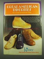 1974 Kinney Shoes Ad - Great American Favorites