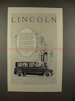 1926 Lincoln Car Ad - Faultless Precision Makes Master!