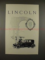1926 Lincoln Cabriolet Car Ad - For Formal Use, NICE!!
