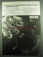 1974 Zeiss Microscope Ad - The Art of Making Lenses
