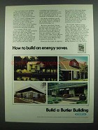 1974 Butler Buildings Ad - Build an Energy Saver