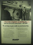 1974 AMP Incorporated Ad - If You Make Computers
