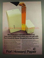 1974 Fort Howard Paper Ad - Measure Your Cabinets