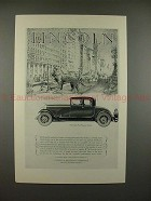 1927 Lincoln Four-Passenger Coupe Car Ad - NICE!!