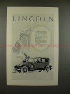 1927 Lincoln Car Ad - No Yearly or Periodic Models!!