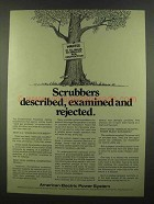 1974 American Electric Power Ad - Scrubbers Described