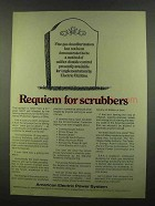 1974 American Electric Power Ad - Requiem for Scrubbers
