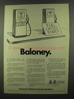 1974 American Electric Power Ad - Baloney