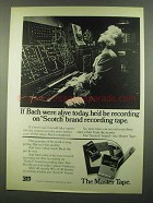 1974 3M Scotch Brand Recording Tape Ad - If Bach Alive