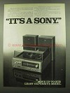 1974 Sony Stereo Model HP-161 Ad - It's a Sony
