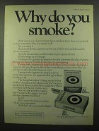 1974 Vantage Cigarettes Ad - Why Do You Smoke?