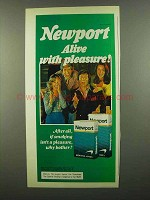 1974 Newport Cigarettes Ad - Pleasure