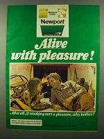 1974 Newport Cigarettes Ad - Alive With Pleasure