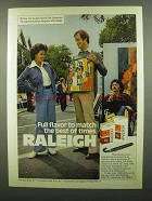 1974 Raleigh Cigarettes Ad - Full Flavor