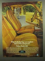 1974 GM Fisher Body Ad - Bic-Car Comfort into Compacts
