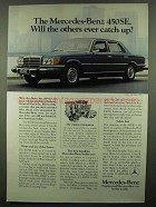 1974 Mercedes-Benz 450SE Car Ad - Ever Catch Up?