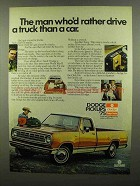 1975 Dodge Pickup Truck Ad - Rather Drive a Truck