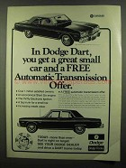 1974 Dodge Dart Swinger and Custom Car Ad