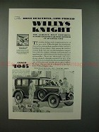 1929 Willys-Knight Six Car Ad - The Most Beautiful!!