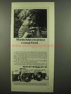 1974 Minolta SR-T 101/102 Camera Ad - Protect Friend