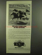 1974 Minolta SR-T Cameras Ad - Helps in the Stretch