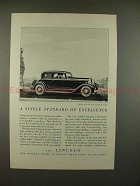1932 Lincoln V-8 Five-Passenger Coupe Car Ad - NICE!!