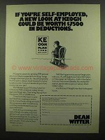 1974 Dean Witter Ad - Self-Employeed Look at Keogh