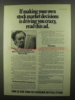 1974 Investment Company Institute Ad - Stock Decisions