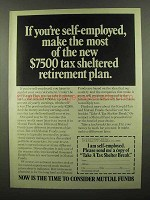 1974 Investment Company Institute Ad - Tax Sheltered