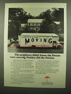 1974 Travelers Insurance Ad - Didn't Know Forans Moving