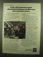 1974 New York Life Insurance Ad - Agent Knows Business