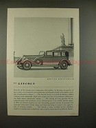 1934 Lincoln Brunn Brougham Car Ad - NICE!!