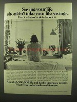 1974 Health Insurance Institute Ad - Saving Your Life