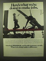 1974 Health Insurance Institute Ad - Doing to Make Jobs