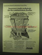 1974 Allstate Insurance Ad - Condominium Dweller