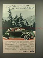 1936 Lincoln-Zephyr Car Ad - Great Smokies Mountains!