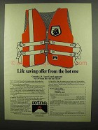 1974 Aetna Insurance Ad - Life Saving Offer