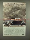 1937 Lincoln-Zephyr Car Ad - Good-bye Badlands!!