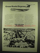 1974 The Airlines of America Ad - Grass Roots Express