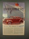 1937 Lincoln-Zephyr Car Ad - Travel The Modern Way!!