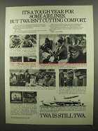 1974 TWA Airlines Ad - It's a Tough Year